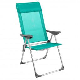 Fauteuil chaise pliante de camping Aloe 5 Positions Bleu