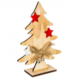Décoration de Noël Sapin de table en bois H 15 cm Comptoir de Noël