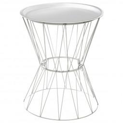 """Table à café blanche """"Kate"""" en métal"""