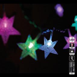 Guirlande lumineuse d'intérieur 20 Etoiles LED à variation de couleur sur 1.90 mètres
