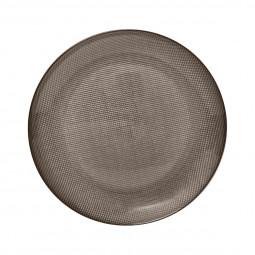 Assiette plate irisé bronze D 25,5 cm