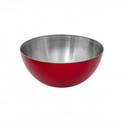Saladier inox rouge 19cm