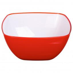 Saladier square rouge 19 cm