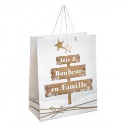 Sac Cadeau imprimé Pancarte Déco Bois MM A l'orée des bois