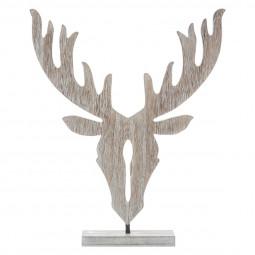 Décoration en bois Tête de Renne à poser H 35 cm collection Esmée