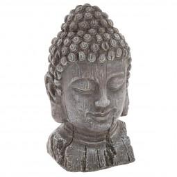Tête de bouddha effet bois h32
