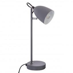 Lampe de bureau grise en métal H36