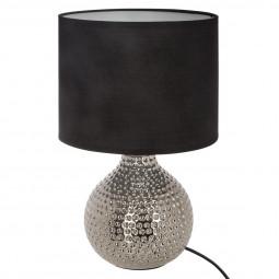 Lampe céramique martelée goutte H38