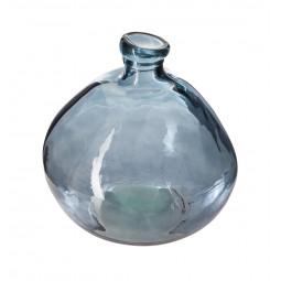 Vase verre recyclé rond orage d20