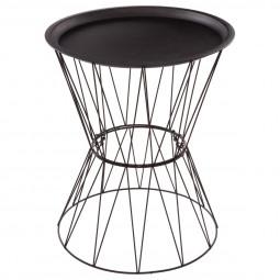"""Table à café noire """"Kate"""" en métal"""