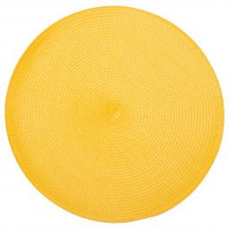 Lot de 6 sets de table tressés ronds jaunes