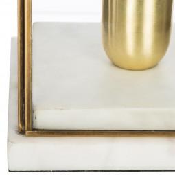 Lampe marbre + verre H26