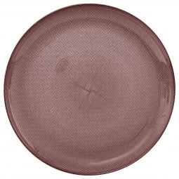Assiette de présentation irisée vieux rose D 31 cm