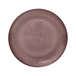 Assiette plate irisée rose 25,5cm