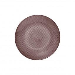 Assiette à dessert irisée rose D 20 cm