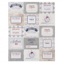 Lot de 15 étiquettes pour paquets cadeaux Les incontournables