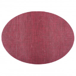 Set de table texaline oval rouge