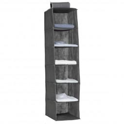 Range chemises 6 cases gris chiné