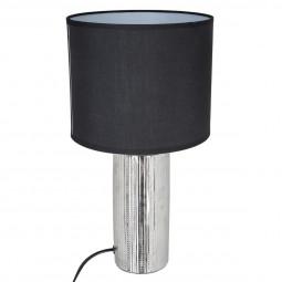 Lampe céramique striée tube H41