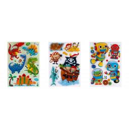 Sticker kids 3D garçon 30x40 cm
