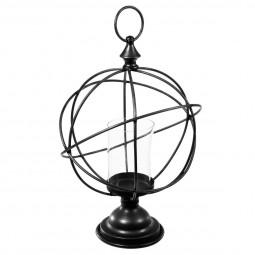 Globe métal + 1 photophore H41 cm
