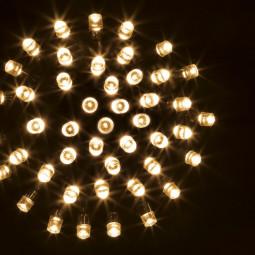 Guirlande lumineuse d'extérieur 200 LED Blanc chaud sur 20 mètres et 8 Jeux de lumière