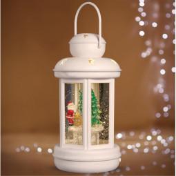 Décoration Intérieur lumineuse Lanterne à LED avec décor H 20 cm