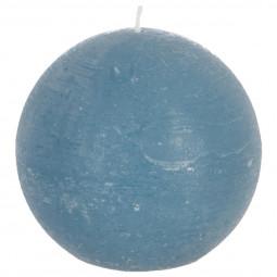 Bougie boule rustique bleue D8