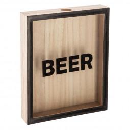 Boîte à bouchons beer bois 25x20