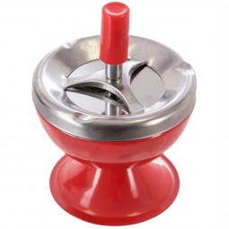 Cendrier métal boule rouge d9.5
