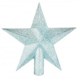 Déco de sapin de Noël Cimier étoile Bleu 22 cm