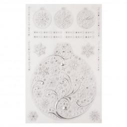Sticker vitre Métal Argent 30 x 45 cm Sous son blanc manteau