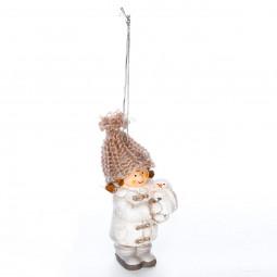 Décoration Sujet de Noël Enfant en céramique H 10 cm  A l'orée des bois