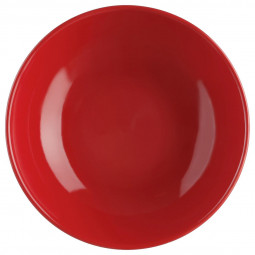 Assiette creuse rouge 22cm