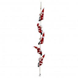 Guirlande de Noël 5 Pères Noël grimpeur  L 110 cm Les incontournables