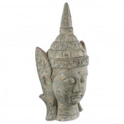 Tête de Bouddha irisé doré H 55 cm