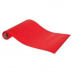 Chemin de table Satin Rouge pailleté 28 x 500 cm La maison des couleurs