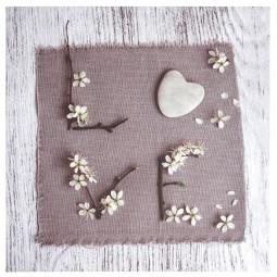 Toile imprimée romance love 28x28