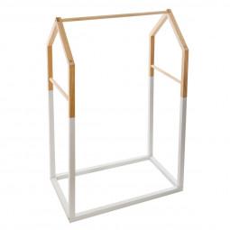 Penderie en bois forme maison H 100 cm