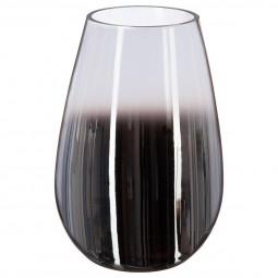 Vase bombé verre fumé H 23 cm