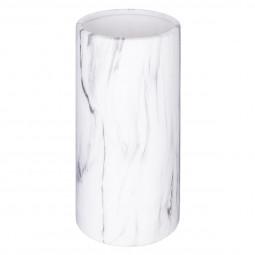 Vase cylindre marbre contemporain H20