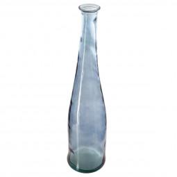 Vase long verre recyclé orage H80