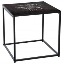 """Table à café black avec impressions  40x40x40 cm  """"Factory"""""""