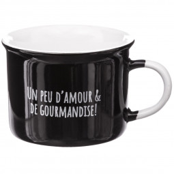 Lot de 4 mugs email chocolat 14cl