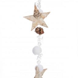 Guirlande de Noël Formes en Bois L 140 cm collection Lodge