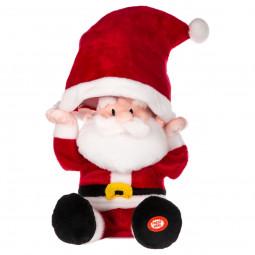 Automate Musical Père Noël chante et bouge H 31 cm Les incontournables