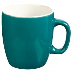 Mug Rond en Faïence coloris Bleu 18 cl Petit déj Uni
