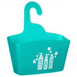 Support de douche turquoise