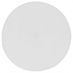 Set de table tressé rond blanc