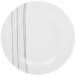Lot de 6 assiettes plates lignes D27